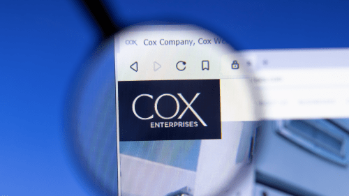 Cox Enterprises logo on computer screen.