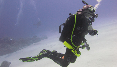 Divers with Hazell's Water World scuba equipment - Diver Supply Barbados