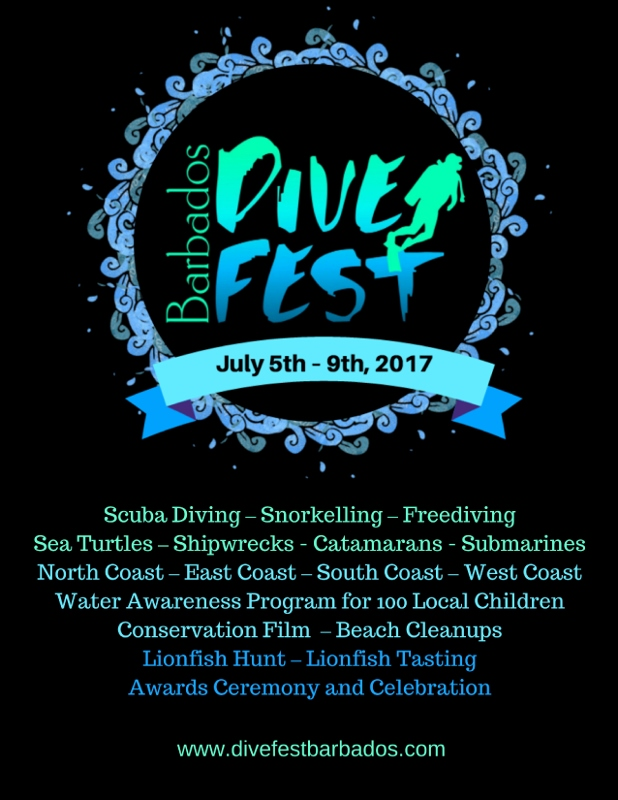 Barbados Dive Fest 2017 flyer
