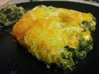 Espinacas con queso.