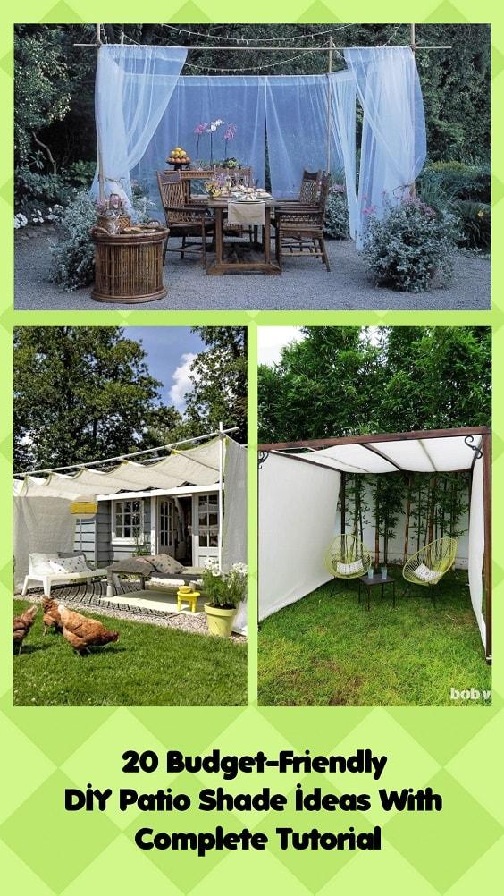 budget friendly diy patio shade ideas