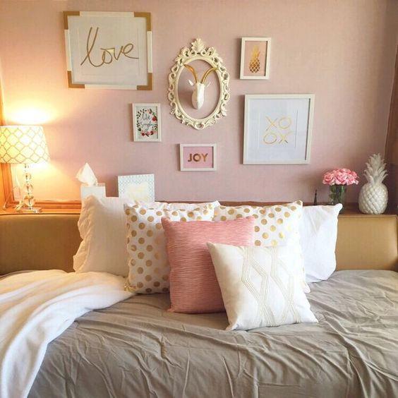 glamorously gorgeous gold bedroom decor