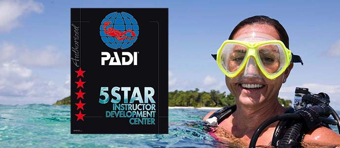 PADI scuba diving courses with B&J