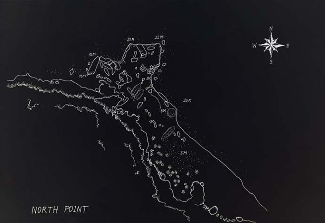 North Point dive map