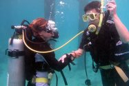Out of Air Skill during PADI Open Water course
