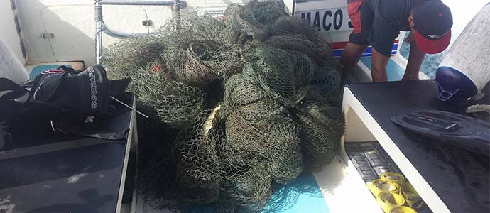 Drift net removed from Tioman