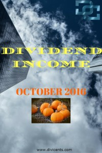 Dividend Income – Oct 2016