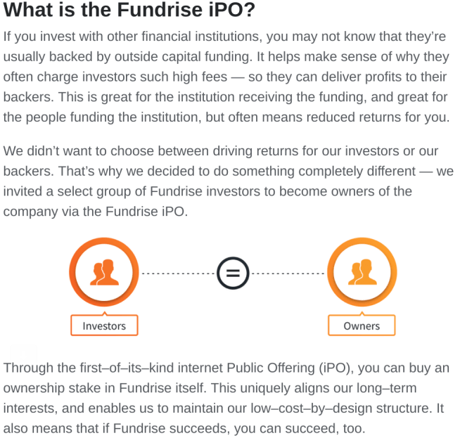 Fundrise, iPO, internet public offering