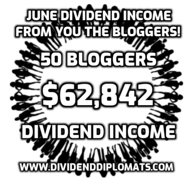 june dividend income, community, bloggers