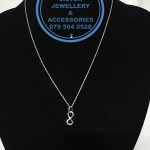 925 Sterling Silver Infinity Pendant with 42 cm Chain Prices Excludes Nominal National Door-to-door Courier Fee