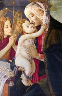 Madonna and Child with Young St John by Botticelli - Sacred Art Photograph by Cheri Lomonte