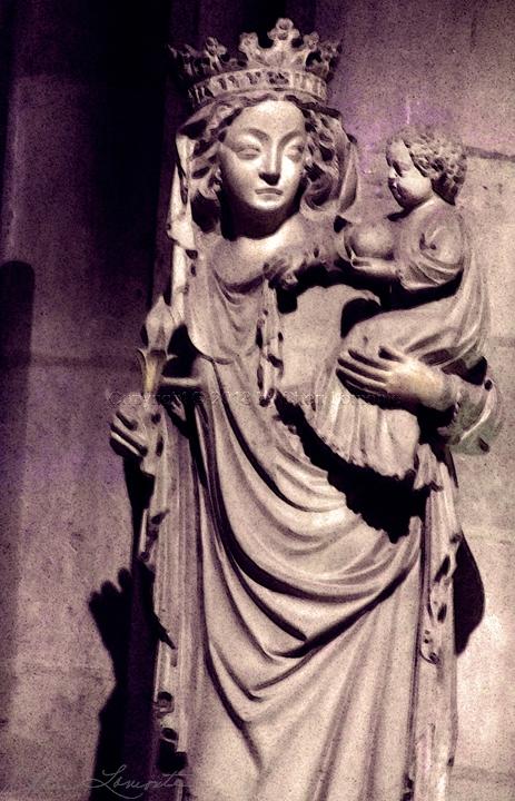 Mother of God - Sacred Art Photograph by Cheri Lomonte