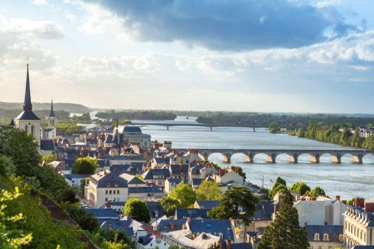 City of Saumur - Aerial view of the Loire