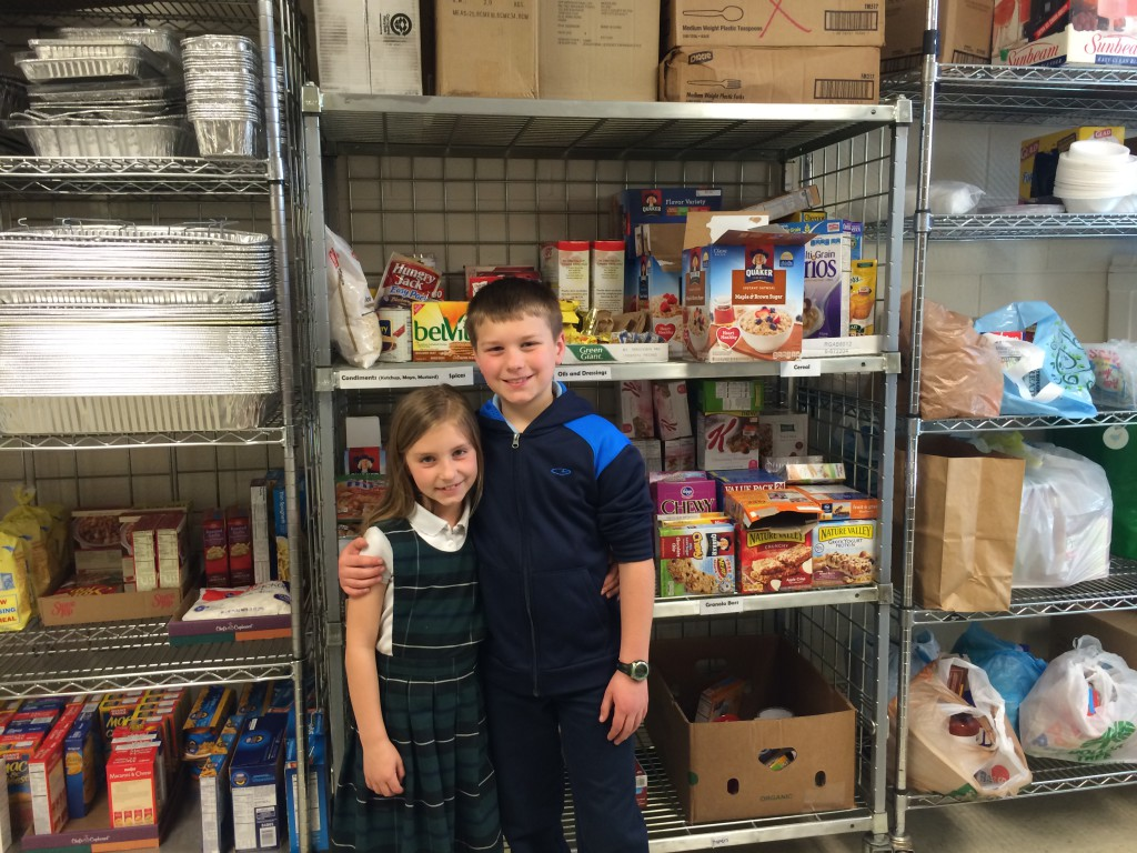 "My kids love stocking the Run the Race food pantry. We save up money in our ""mercy fund"" and go shopping from their online list. It's fun for my kids to drop off the food and organize it on the shelves too!"