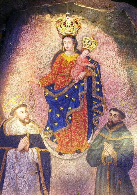 Image result for Las Lajas image of our lady in the rock