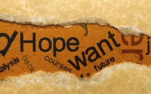 Hope want concept