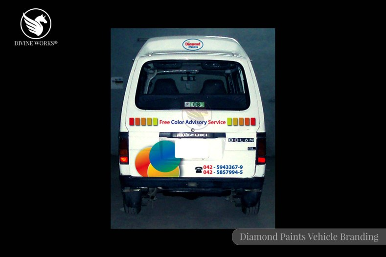 Diamond Paints Vehicle Branding Design By Divine Works