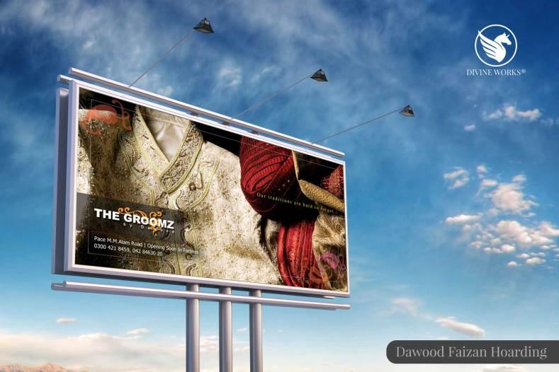 Dawood Faizan Hoarding Design By Divine Works