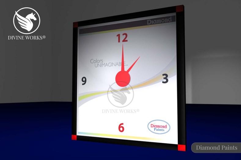 Diamond Paints Clock Design By Divine Works