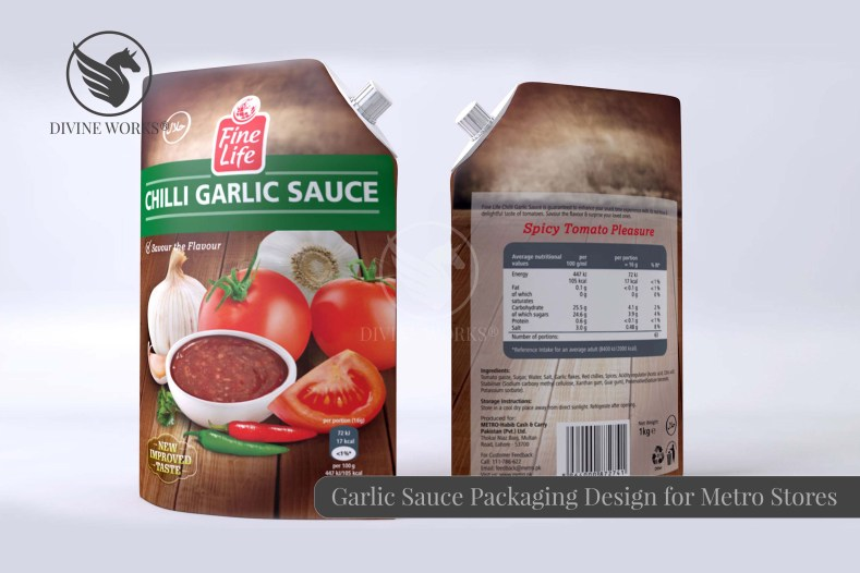 Metro Garlic Sauce Packaging Design By Divine Works