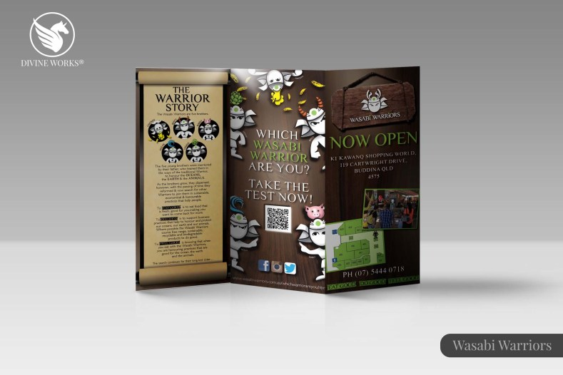 Wasabi Warriors Brochure Design By Divine Works