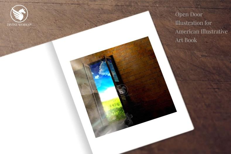 Door - digital raster illustration