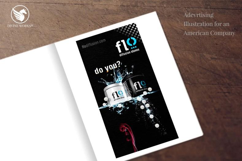 Flodiffusion - digital raster illustration