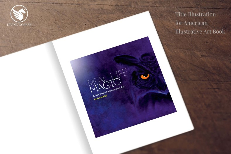 Magic Owl - digital raster illustration