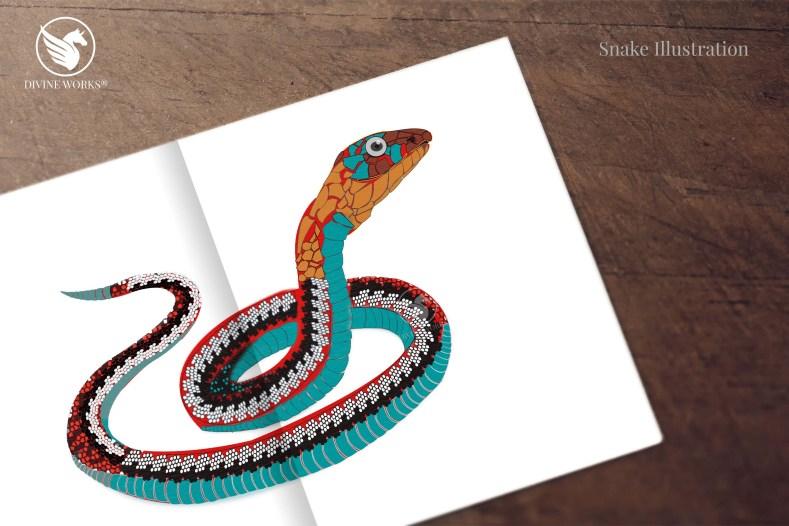 Snake - digital vector illustration