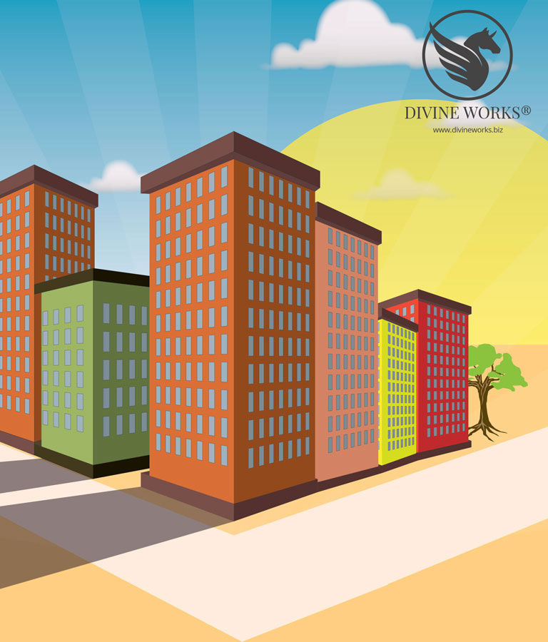 Building Vector Illustration by Divine Works