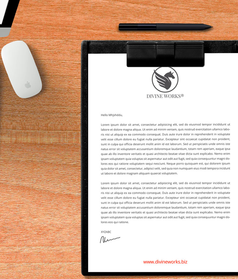 Clipboard Mockup by Divine Works