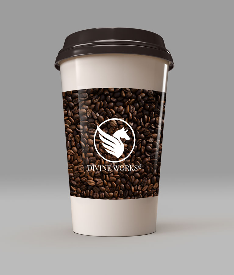 Coffee Paper Cup Mockup by Divine Works