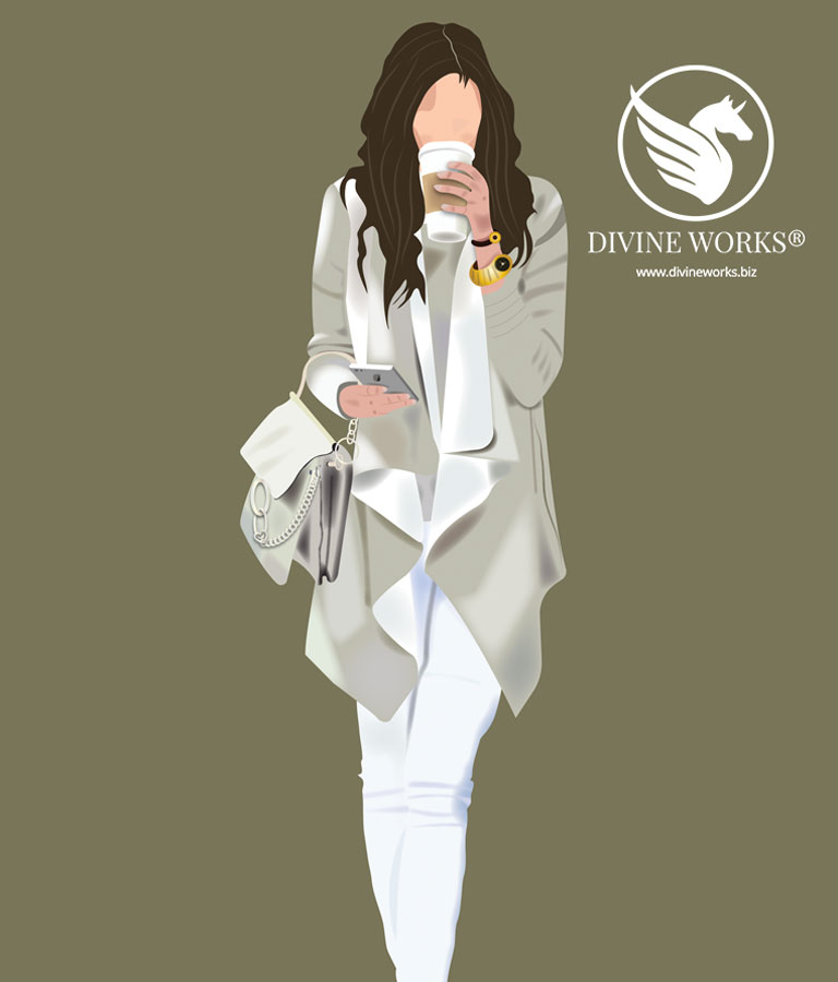 Girl Vector Illustration by Divine Works