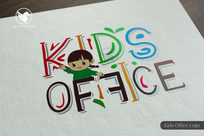 Kids Office Logo Design By Divine Works