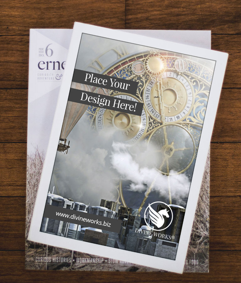 Free Magazine Title Mockup by Divine Works