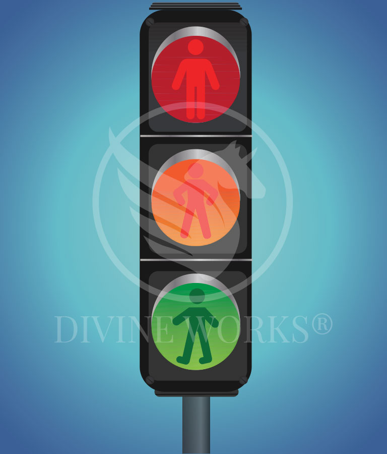 Traffic Signal Vector Illustration by Divine Works