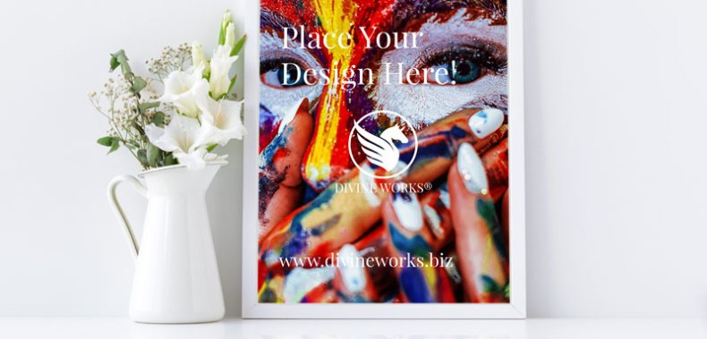Free Picture Frame Mockup by Divine Works