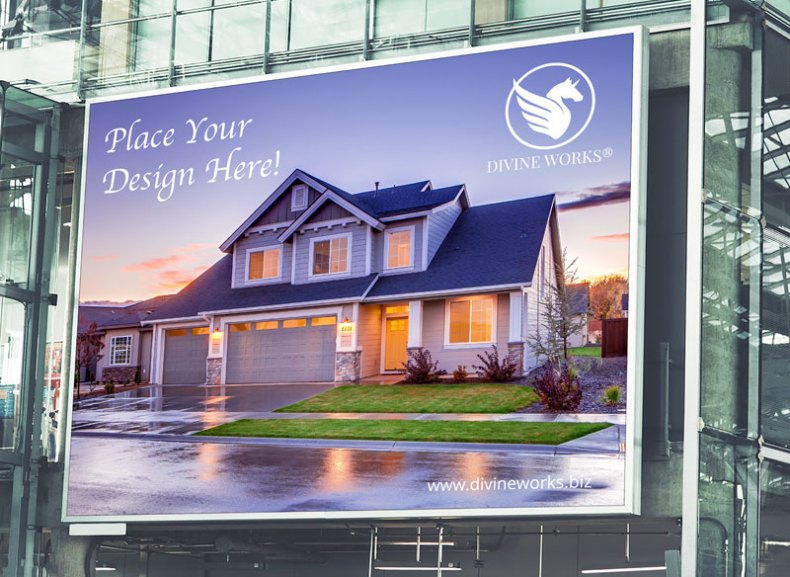 Free Outdoor Building Billboard Mockup by Divine Works