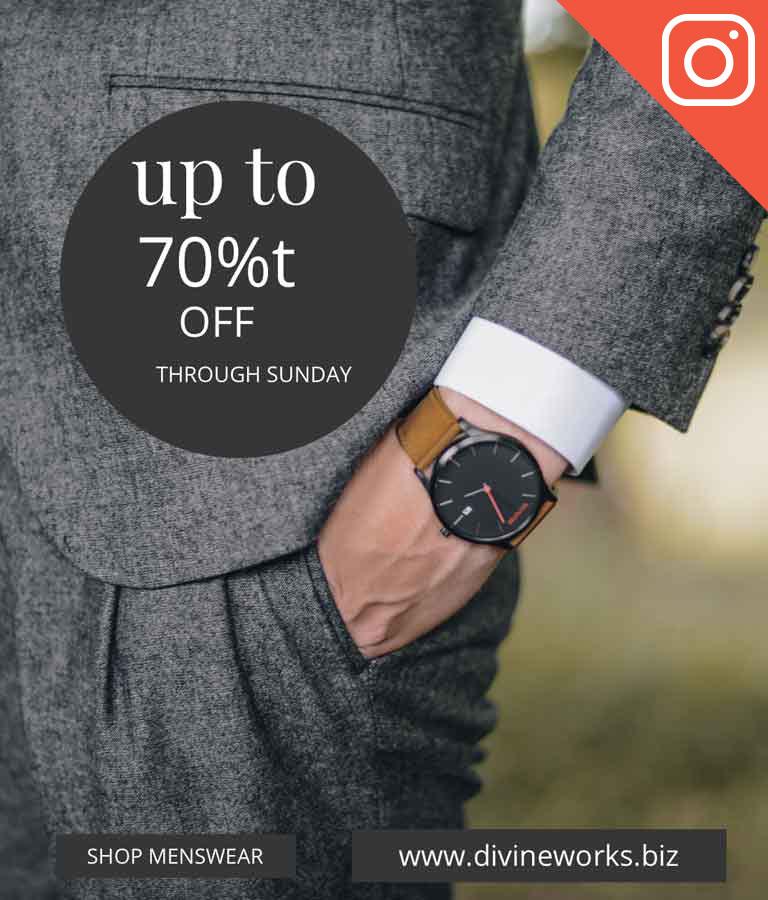 Free Shop Menswear Instagram Template by Divine Works
