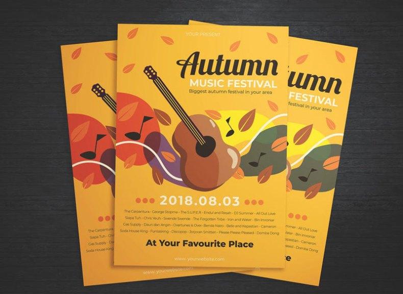 Autumn Music Festival Flyer