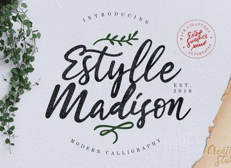 Estylle Madison Calligraphy