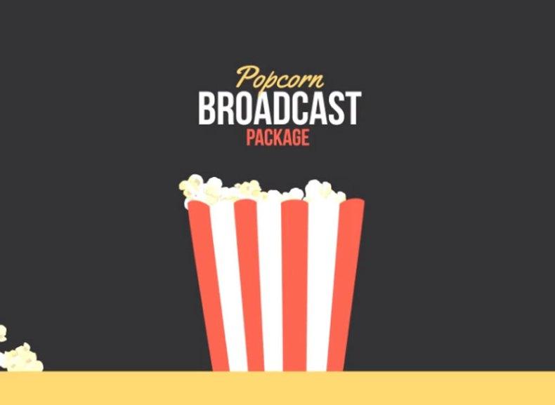 Popcorn Broadcast Package Essential Graphics | Mogrt