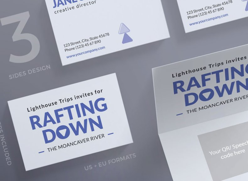Rafting Adventure Business Card Template
