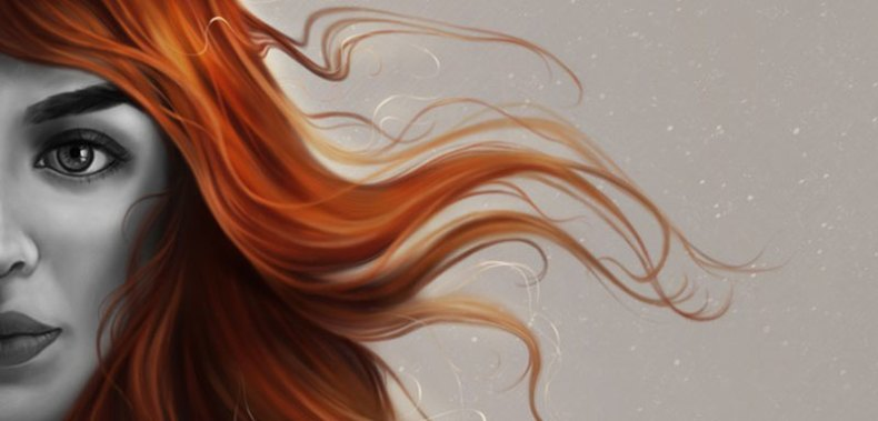 Digital Art Painting Realistic Hair
