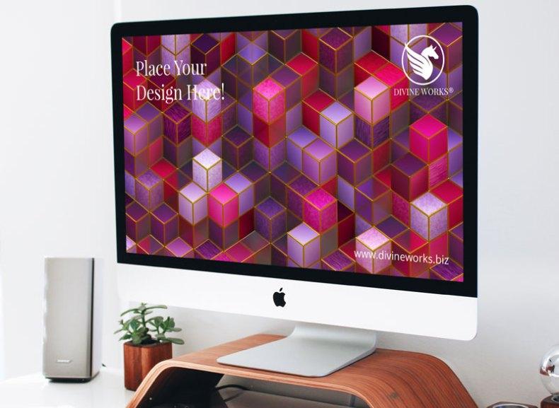 Free Apple iMac Mockup by Divine Works