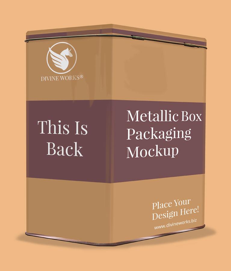 Free Metallic Box Packaging Mockup by Divine Works