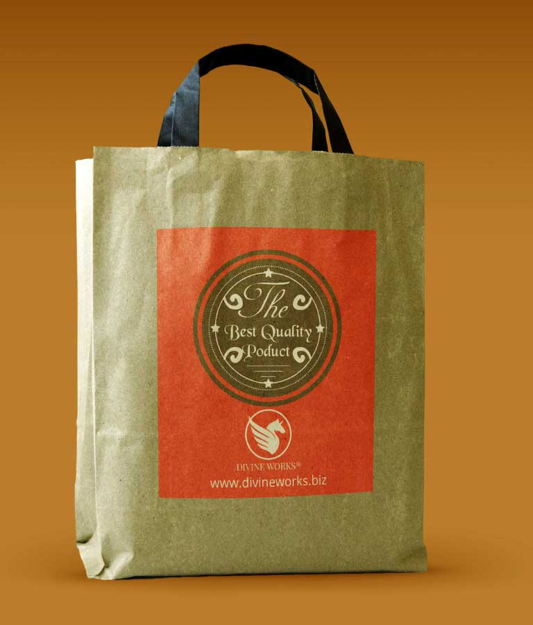 Free Brown Paper bag Mockup