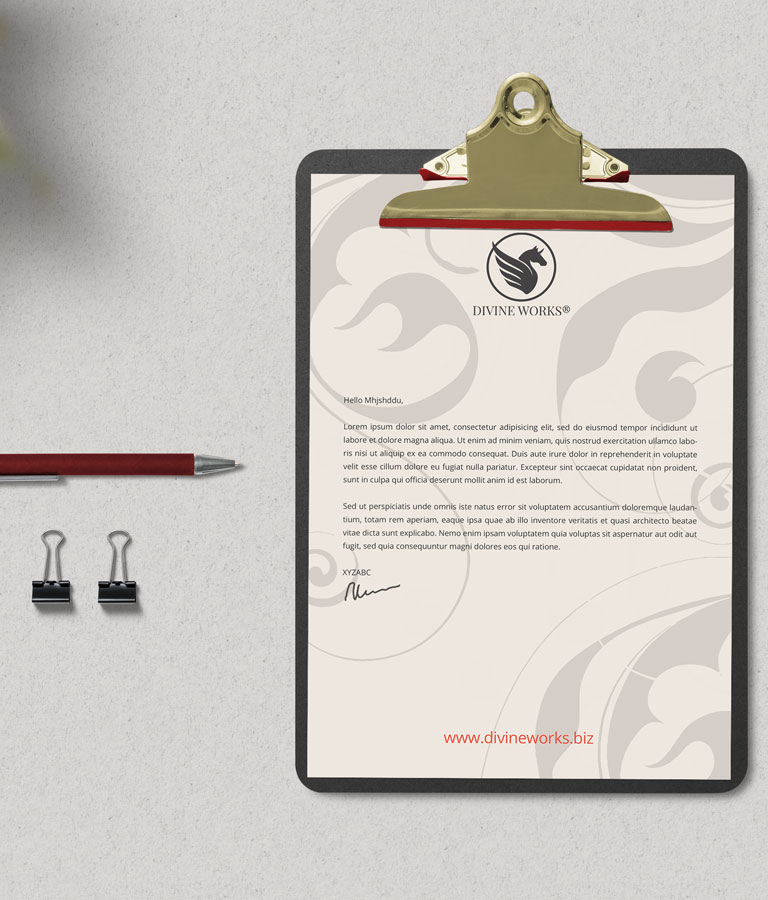 Download Free Clipboard Letterhead Mockup PSD by Divine Works