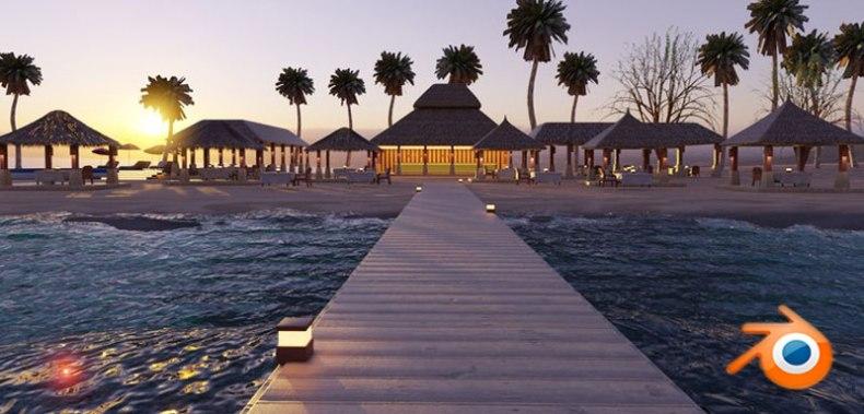 Learn Photorealism Create a Maldive Island in Blender 2.8