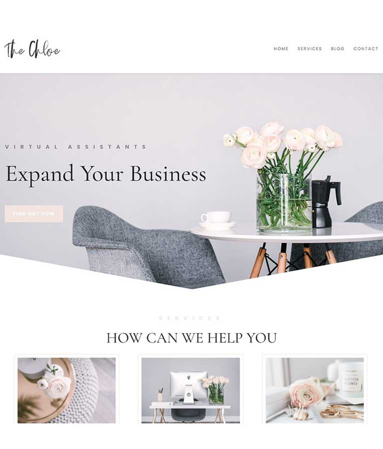 The Chloe Divi Child WordPress Theme